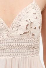 Lace panel tie back dress
