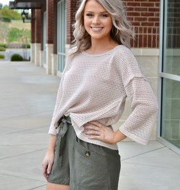 Taupe 3/4 sleeve top