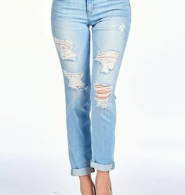 ML distressed boyfriend jeans