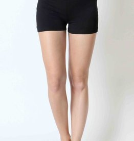 Black active short pants with wide waist band