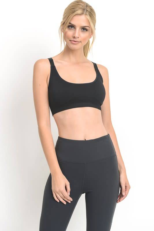 4b3726ff6e0 Black cutout back seamless sports bra - Image Boutique