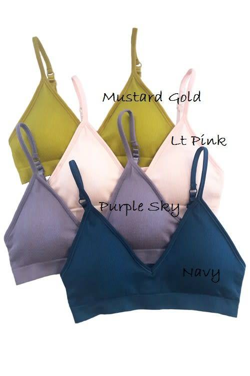 7ec0f67f502 Seamless ribbed bralette ONE SIZE - Image Boutique