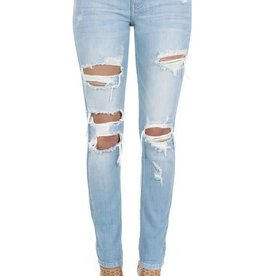 Lt wash low rise skinny jeans
