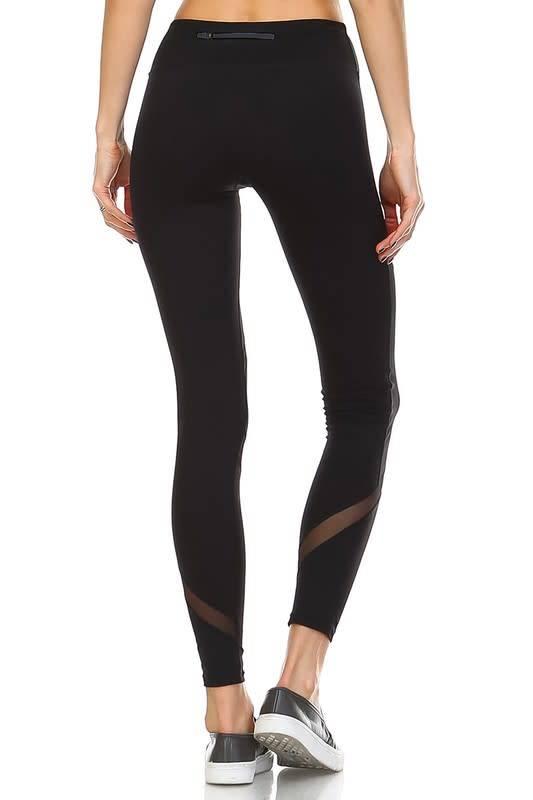 f4102c709a278c Cross mesh panel full length leggings - Image Boutique