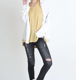 Black stone washed distressed skinny jeans