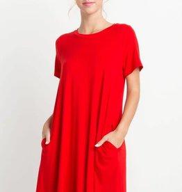 Short sleeve tee shirt pocket dress