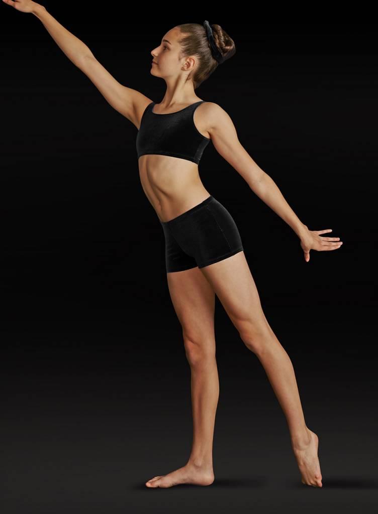 Leo Dancewear Adult Velvet Gym Shorts