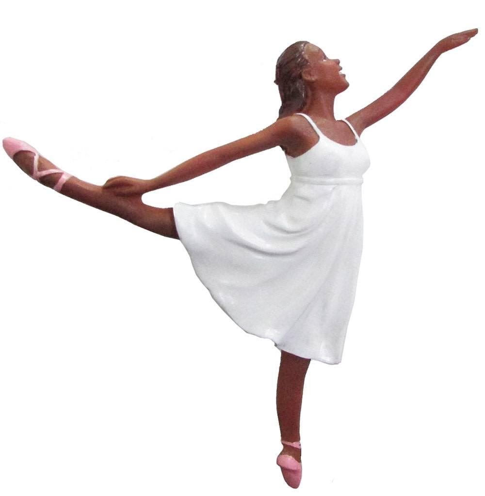 African American Romantic Ballerina Ornament