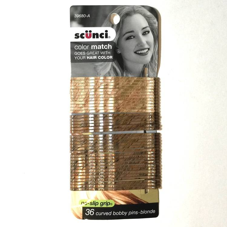 SCUNCI Scunci 36pc Blonde Bobbi Pins 3""