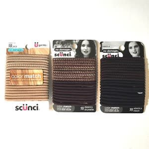 SCUNCI CONAIR Color Match Ponytail Holders (18pc.)