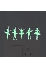 C and J Merchantile Glow in the Dark Ballerina Window Decal