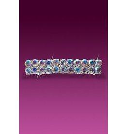 Rhinestone Barrette 2 Row AB Crystal