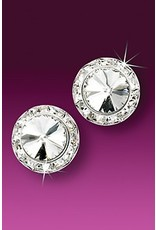 Rhinestone Earrings 15mm Post