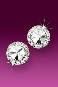 Rhinestone Earrings 13mm Post