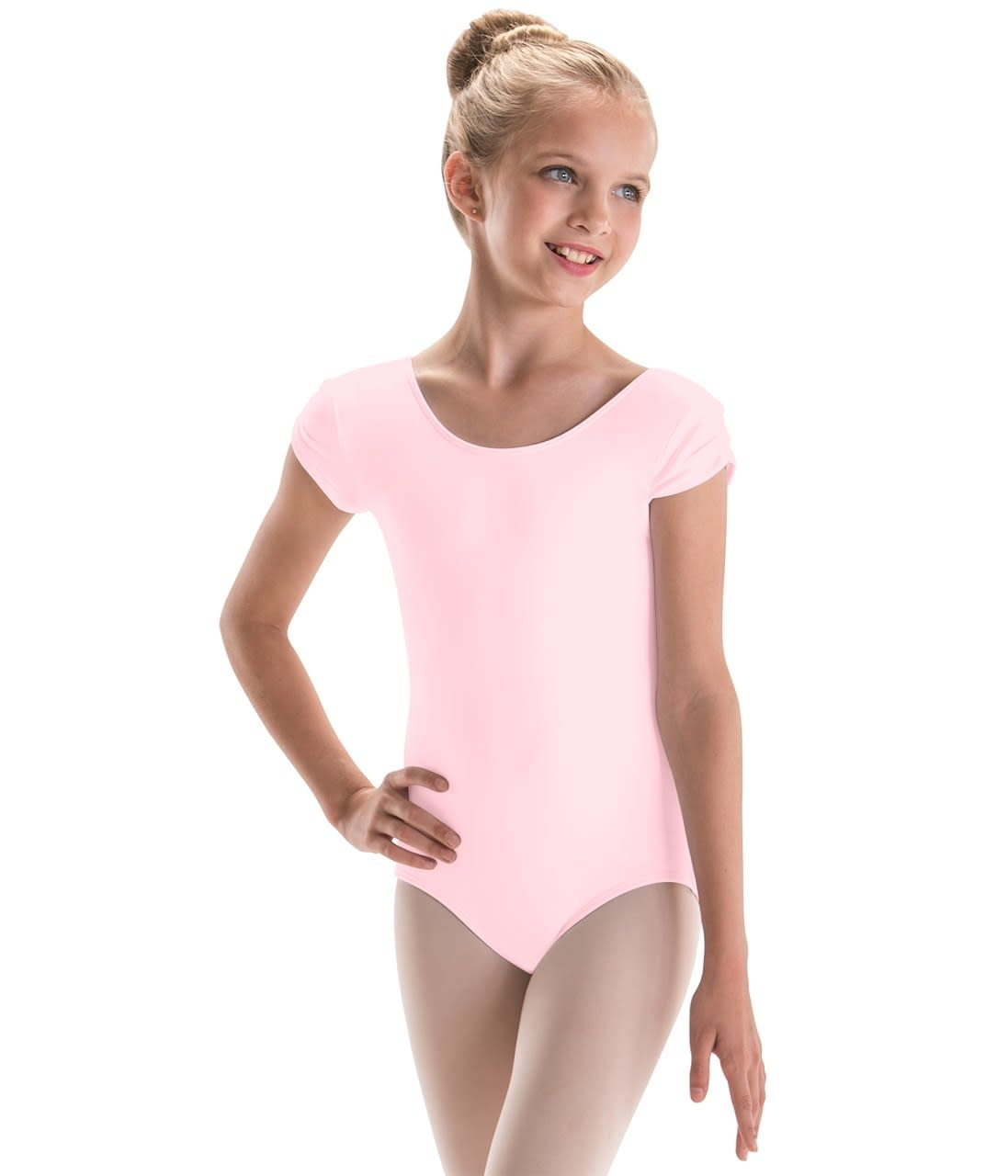 Child Pinch Cap Sleeve Leotard