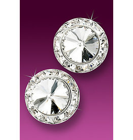 Rhinestone Earrings 20mm Post