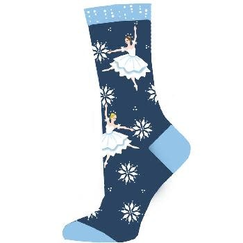 Nutcracker Ballet Gifts Snow Scene Lightweight Sock