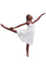 Nutcracker Ballet Gifts African American Romantic Ballerina Ornament