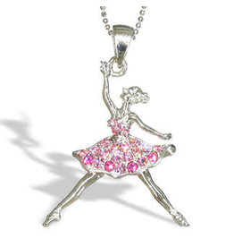Nutcracker Ballet Gifts Ballerina Dancer Necklace