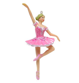 Nutcracker Ballet Gifts Ballerina in Pink Tutu Resin Ornament