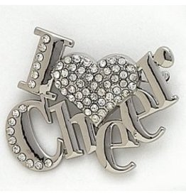 Dasha Designs I Love Cheer Pin