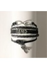 C and J Merchantile Infinity,Love,Dance Bracelet