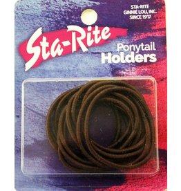 Sta-Rite Metal Free Ponytail Holders BRN