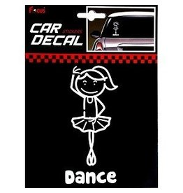 C and J Merchantile Ballerina Car Window Sticker