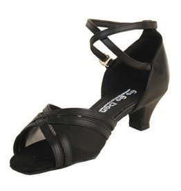 Stephanie Dance Shoes, Inc. GO7010 BLACK LEATHER MESH