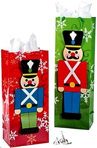 C and J Merchantile Nutcracker Gift Bags