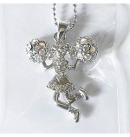 C and J Merchantile Rhinestone Cheerleader Neckalace