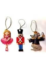 C and J Merchantile Resin Nutcracker Ornament