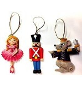 C and J Merchantile Resin Nutcracker Ornament