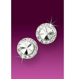 Rhinestone Earrings 13mm Clip Crystal