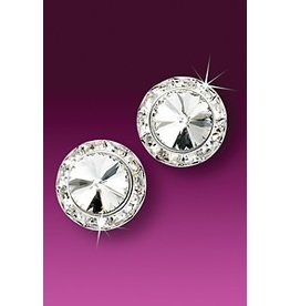 Glamour Goddess Jewelry, Inc Crystal Rstone 15mm Earrings Post