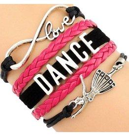 C and J Merchantile Infinity Love, Dance, Ballerina Bracelet