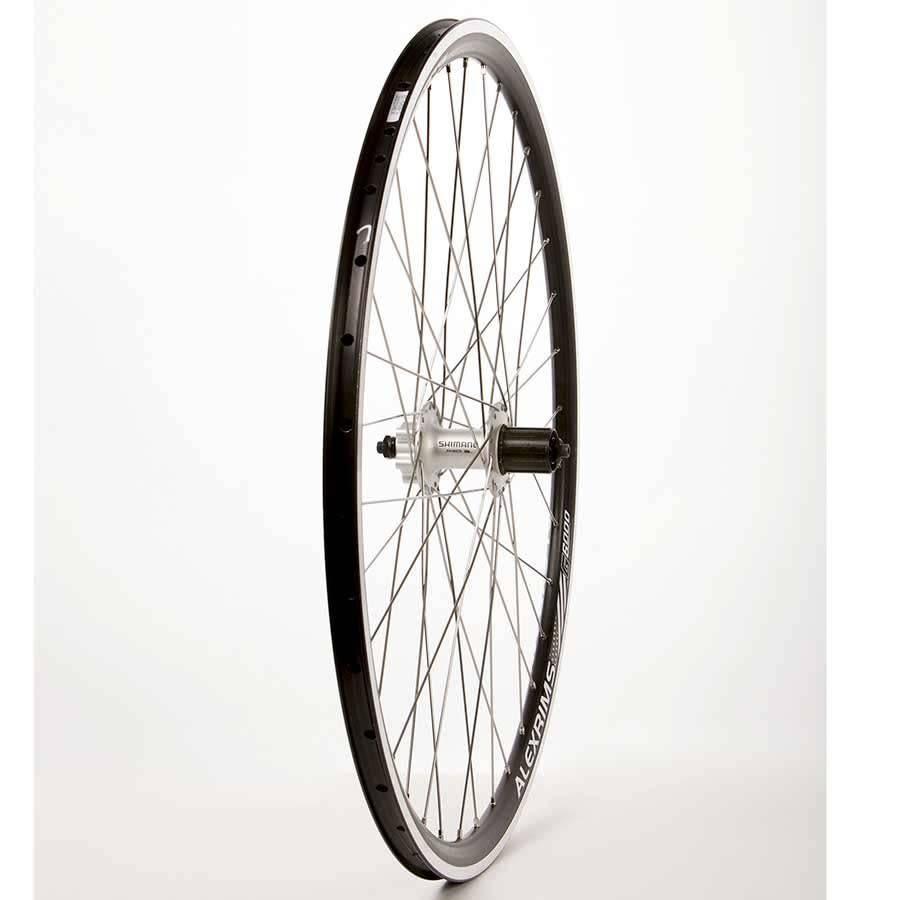 Roues Rear 700C Wheel, Alex G6000 Black / FH-M475 Black, 36 DT Stainless Spokes, QR Axle, 8/9 Sp. Cassette, DISC