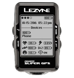 Lezyne Lezyne, Super GPS, Cyclocomputer, Bluetooth and ANT+