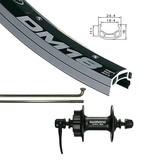 Handbuilt Wheels Front, 26'', Wheel, Alex DM-18 Black / HB-M475 Black, 36 Stainless Spokes, QR Axle