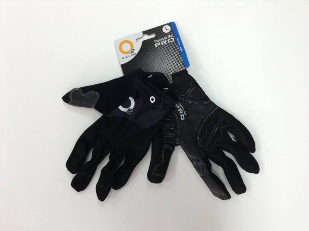 Evo Espresso Gel Pro, Gloves, O2, BLACK S