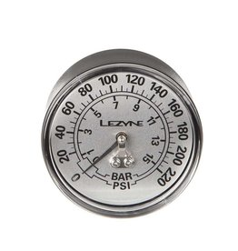Lezyne Lezyne, Floor Pumps Gauge, 2.5'', 220psi, gauge only