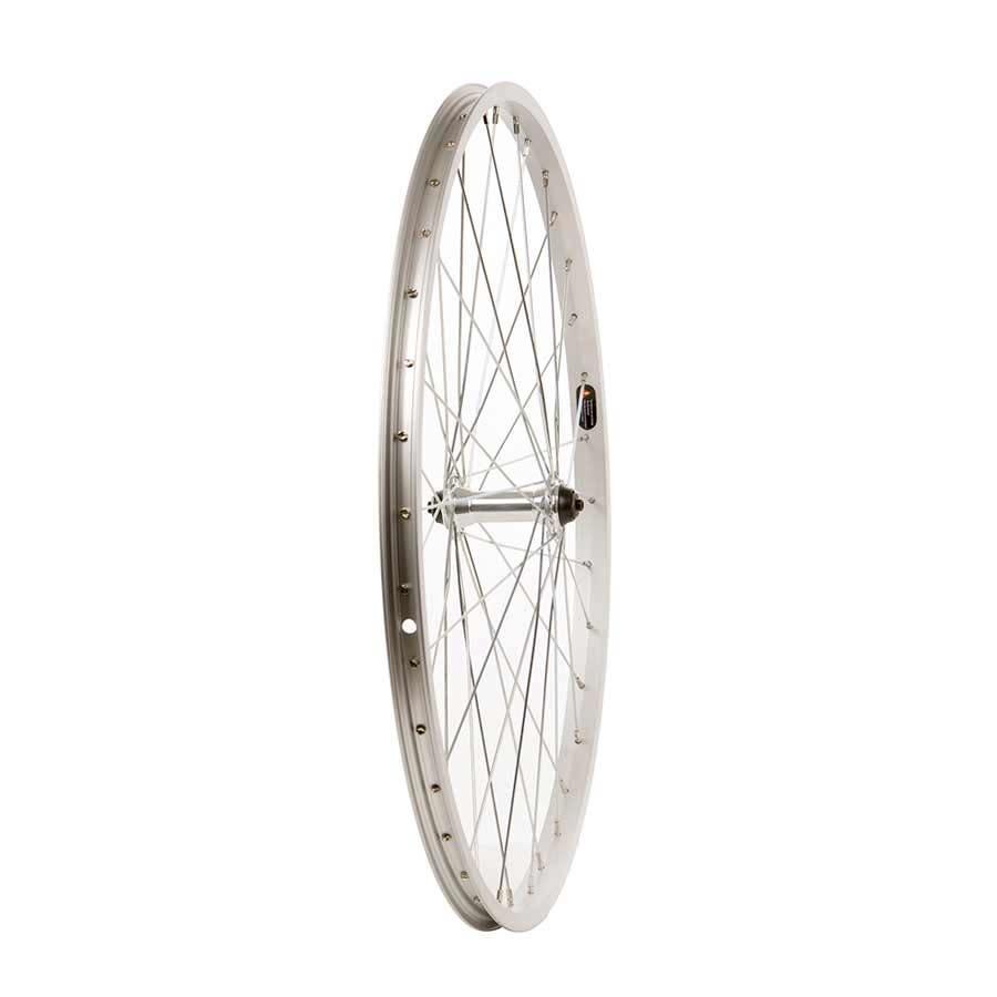 """WHEEL SHOP Wheel Shp, Rear 26"""" Wheel, 36H Silver Ally Single Wall Alex C1000/ Silver Frmula FM-31 QR FW Hub, Steel Spkes"""
