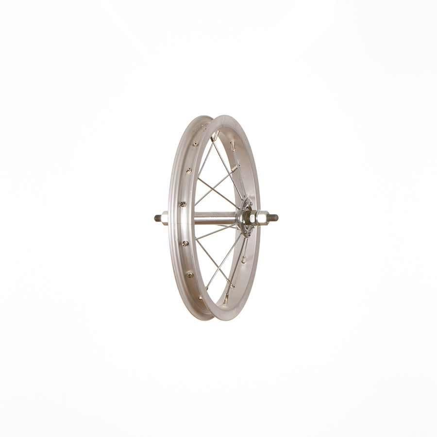 Roues Wheel Shp, Frnt 12'' Wheel Alex C1000 Silver / KK-104F Silver, 36 Steel spkes, Nutted 5/16'' axle