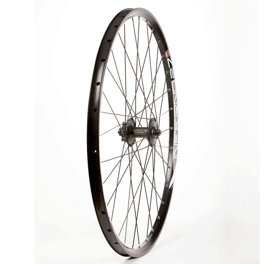 Roues Front 27.5'' Wheel Sun Inferno 27/ Shimano HB-M525 Black, DT Stainless Black Spokes X 32, QR Axle