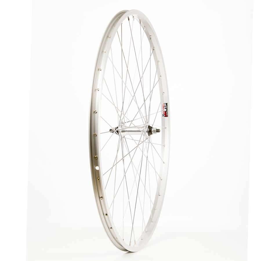 Handbuilt Wheels Front, 700C Whee,l Alex X101, Silver / FM-21 Silver, 36 Steel spokes, Nutted axle