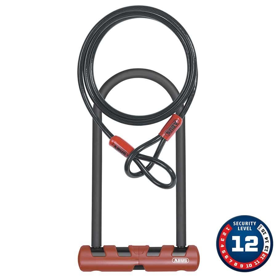 Abus Abus, Ultimate, U-Lck and cable, 160mm x 230mm (14mm x 6.3'' x 9''), 10mm x 120cm (10mm x 4') cable, With USH bracket