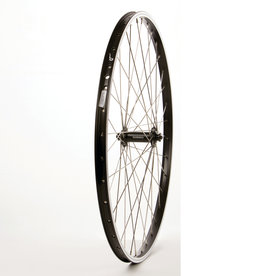 "WHEEL SHOP Wheel Shp, Frnt 26"" Wheel, 36H Black Ally Duble Wall Alex DM-18/ Black Shiman HB-RM70 QR Hub, Stainless Spkes"