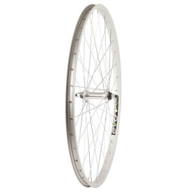 "WHEEL SHOP Wheel Shp, Frnt 26"" Wheel, 36H Silver Ally Single Wall Ev E Tur 20/ Silver Frmula FM-21 Nutted Axle Hub, Steel Spkes"