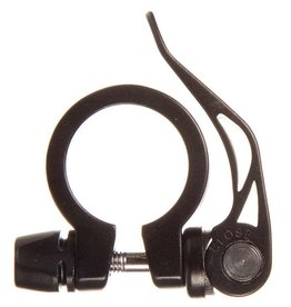 Evo EVO, Integrated Skewer, Seatpost Clamp, 31.8mm, Black