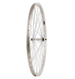 Handbuilt Wheels Front 26'' Wheel Alex C1000 Silver / FM-21 Silver, 36 Steel spokes, Nutted axle